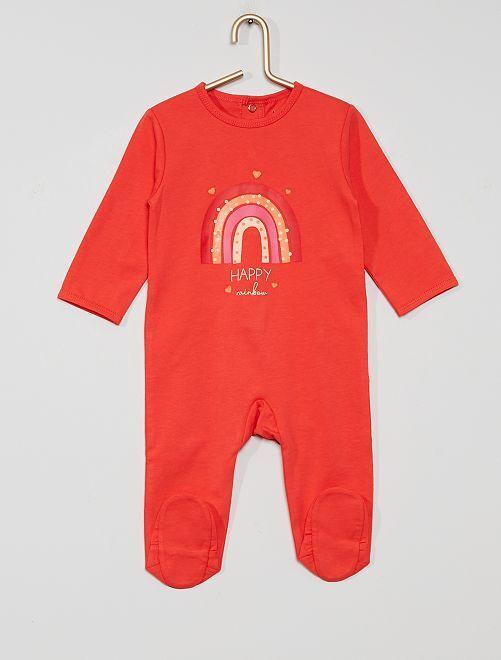 Pijama de punto 'eco-concepción'                                                                                                                                                                                                                                                                 fuscia