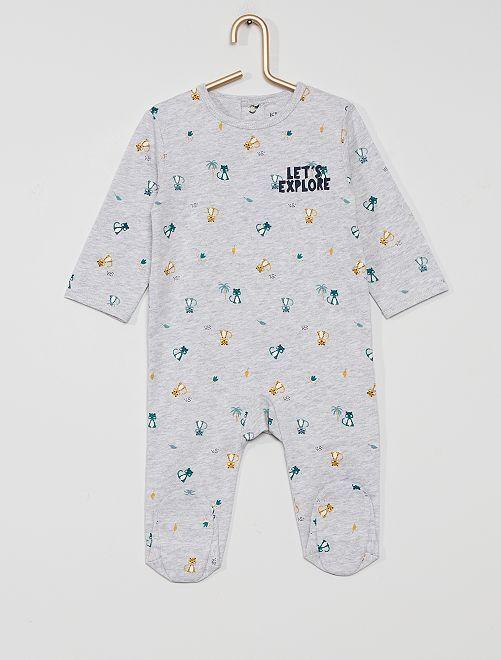 Pijama de punto 'eco-concepción'                                                                                                                                                                                                                                                                 GRIS