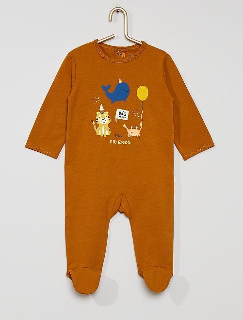 Pijama de punto 'eco-concepción'                                                                                                                                                                                                                                                                 MARRON