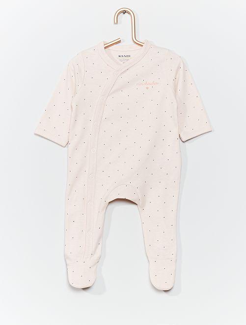 Pijama de punto eco-concepción                                                                                         ROSA