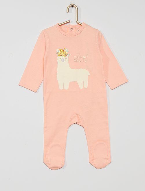 Pijama de punto 'eco-concepción'                                                                                                                                                                                                                                                                 ROSA llama