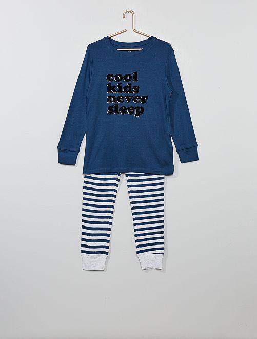Pijama de punto estampado                                                                                 BLANCO