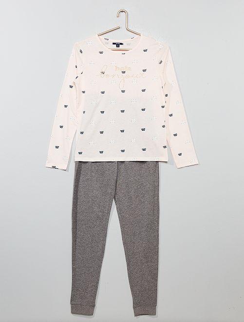 Pijama de punto 'gato unicornio' brillante                                         ROSA