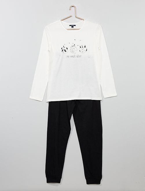 Pijama de punto                             GRIS