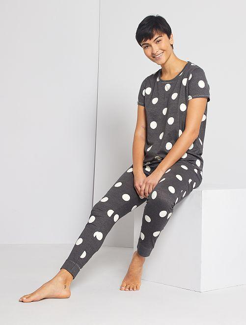 Pijama de punto                                                                 gris oscuro