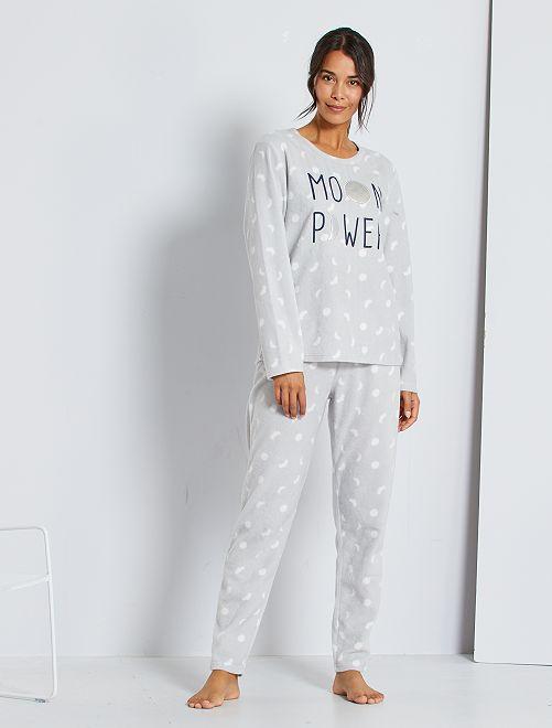 Pijama de punto polar                                         gris