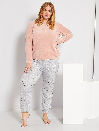 Pijamas Tallas Grandes Mujer Rosa Kiabi