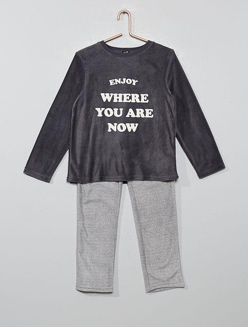Pijama de tejido polar                             AZUL