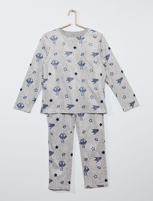 Pijama de tejido polar estampado 'galaxia'                                         AZUL