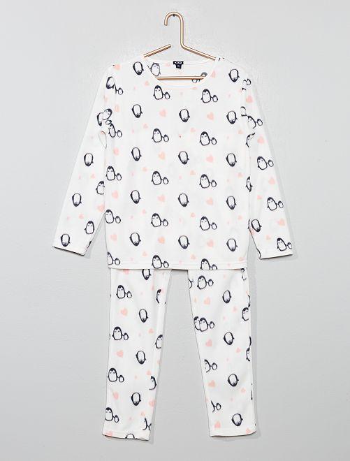 Pijama de tejido polar                                                                 GRIS