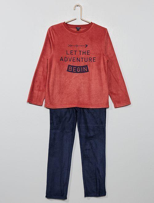 Pijama de tejido polar                                                                 ROJO