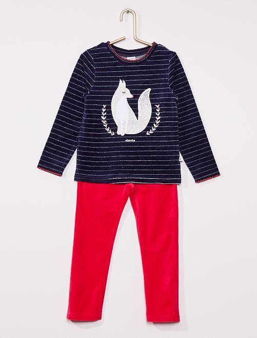 Pijama de terciopelo 'Absorba'                             AZUL