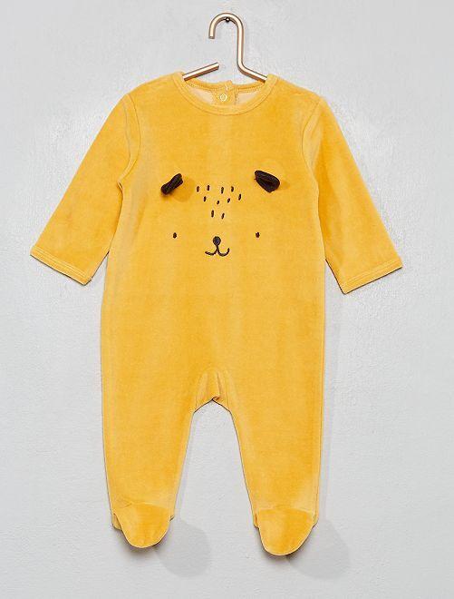 Pijama de terciopelo                                                                                                     AMARILLO
