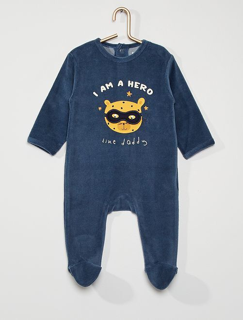 Pijama de terciopelo                                                                                                                                                                                                                                                                             AZUL