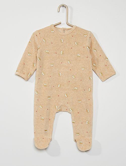 Pijama de terciopelo                                                                                                                                                                                                                                                                             BEIGE