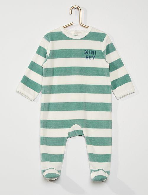 Pijama de terciopelo                                                                                                                                                                                                                                                                             BLANCO