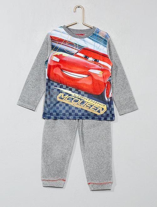 Pijama de terciopelo 'Cars'                                         GRIS Chico