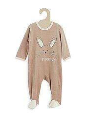 Pijama de terciopelo con bordado