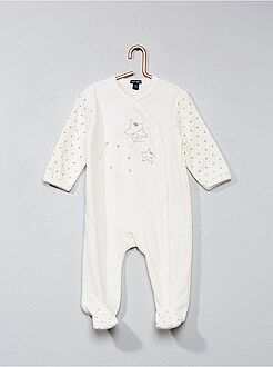 Niña 0-36 meses - Pijama de terciopelo con estampado de estrellas - Kiabi