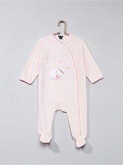 Niña 0-36 meses - Pijama de terciopelo con estampado de gato - Kiabi