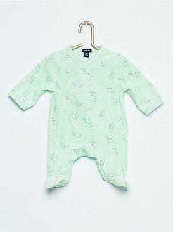 Niño 0-36 meses - Pijama de terciopelo con estampado de 'oso' - Kiabi