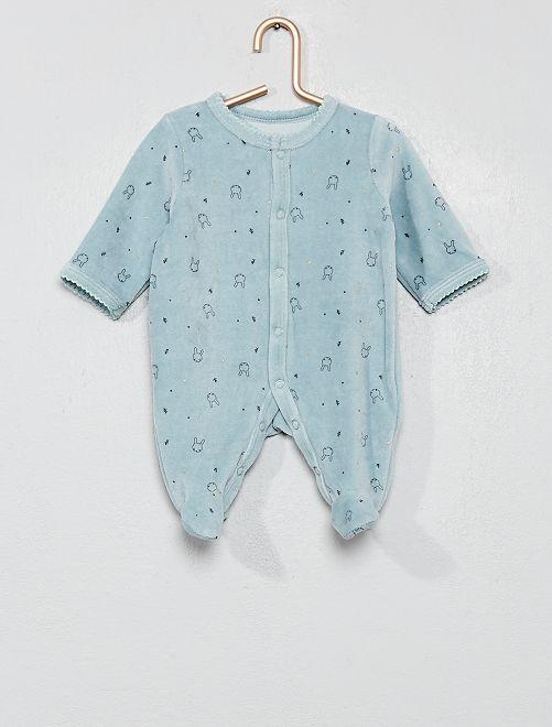Pijama de terciopelo 'conejo'                     AZUL