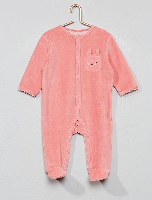 Pijama de terciopelo 'conejo'                                                                 ROSA
