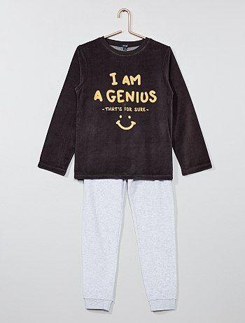 Pijama de terciopelo de 2 piezas - Kiabi