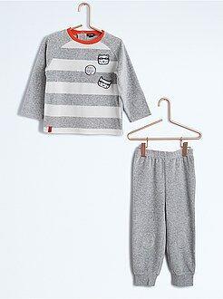 Niño 0-36 meses Pijama de terciopelo de 2 piezas