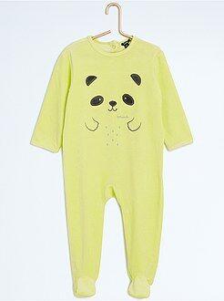 Pijamas - Pijama de terciopelo de dinosaurio - Kiabi