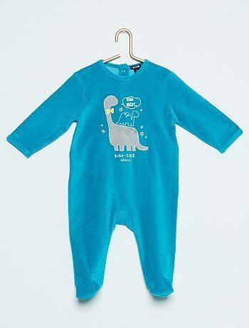 Pijama de terciopelo de dinosaurio - Kiabi