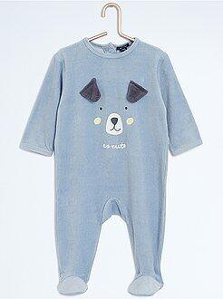 Niño 0-36 meses Pijama de terciopelo de dinosaurio