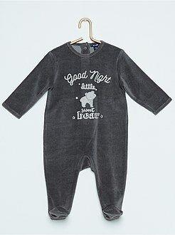 Pijama de terciopelo de dinosaurio