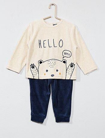 Pijama de terciopelo de 'oso' - Kiabi