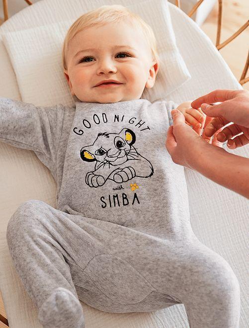 Pijama de terciopelo 'Disney'                                         GRIS Bebé niño