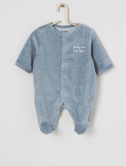 Pijama de terciopelo eco-concepción                                                                     estrella