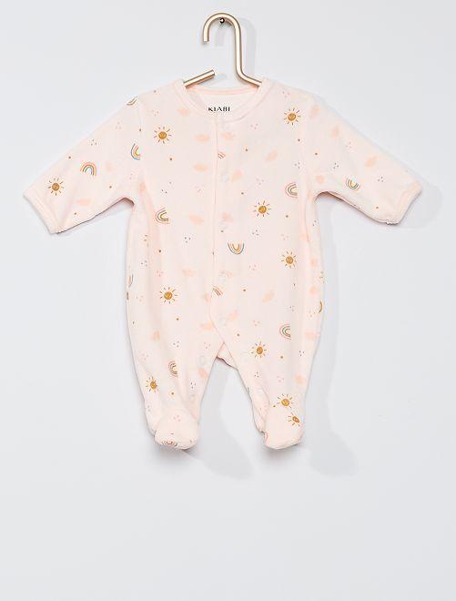 Pijama de terciopelo eco-concepción                                                                             ROSA