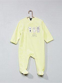 Pijama de terciopelo estampado 'animales'