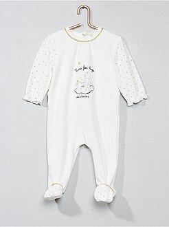 Niña 0-36 meses - Pijama de terciopelo estampado - Kiabi