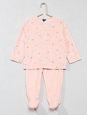 Pijama de terciopelo estampado