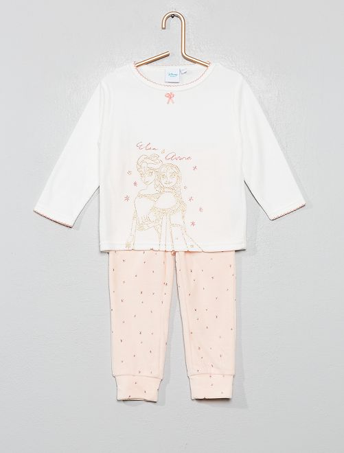 Pijama de terciopelo 'Frozen'                                                     BLANCO