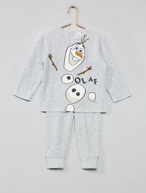 Pijama de terciopelo 'Frozen'                                         GRIS