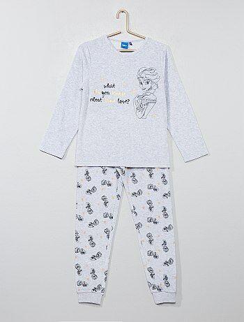 eb331d63c Pijama de terciopelo  Frozen  - Kiabi