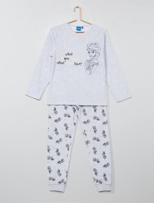 Pijama de terciopelo 'Frozen'                             gris Chica