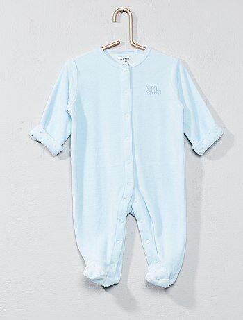 Niña 0-36 meses - Pijama de terciopelo 'hello' - Kiabi