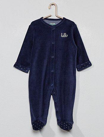 0b2a528d71 Pijama de terciopelo  hello  de algodón orgánico - Kiabi
