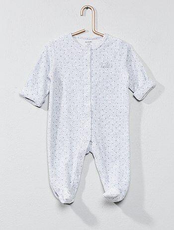 Pijama de terciopelo 'hello' - Kiabi