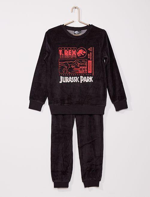 Pijama de terciopelo 'Jurassic Park'                             NEGRO