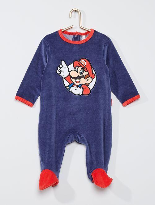 Pijama de terciopelo 'Mario'                             azul marino