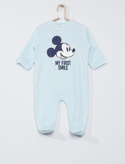 Pijama de terciopelo 'Mickey'                             AZUL